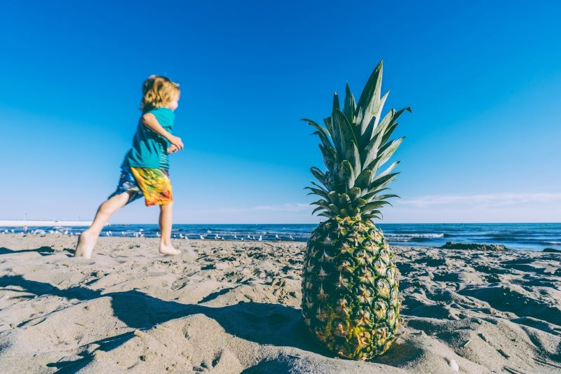 Huntington Beach Child and Pineapple - 8 of California's Most Flavorful Cities