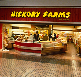 Hickory Farms storefront inside a mall in the 1980's.