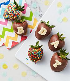 Chocolate Covered Birthday Strawberries