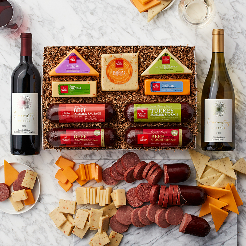 Cheese & Sausage Lover's Wine Gift Set