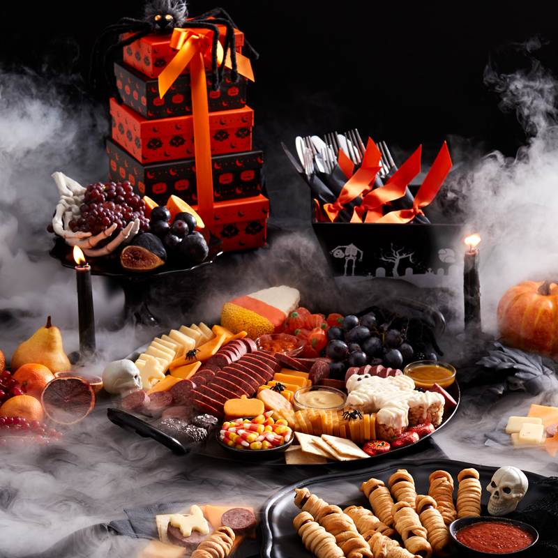 Halloween Movie Streaming & Snacking Tablescape