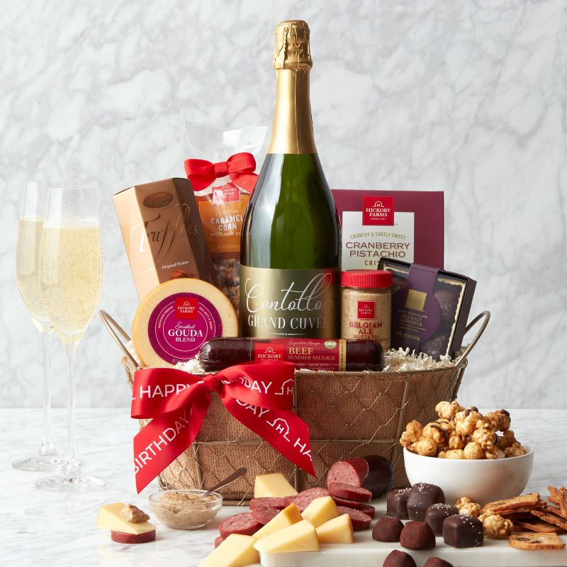 Happy Birthday Sparkling Wine Gift Basket