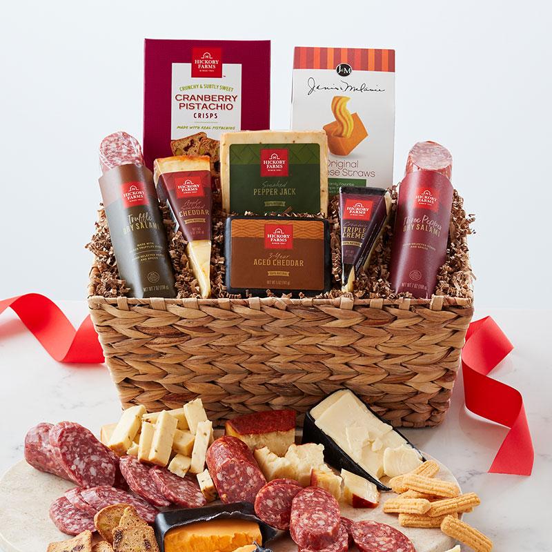 Artisanal Salami & Cheese Gift Basket