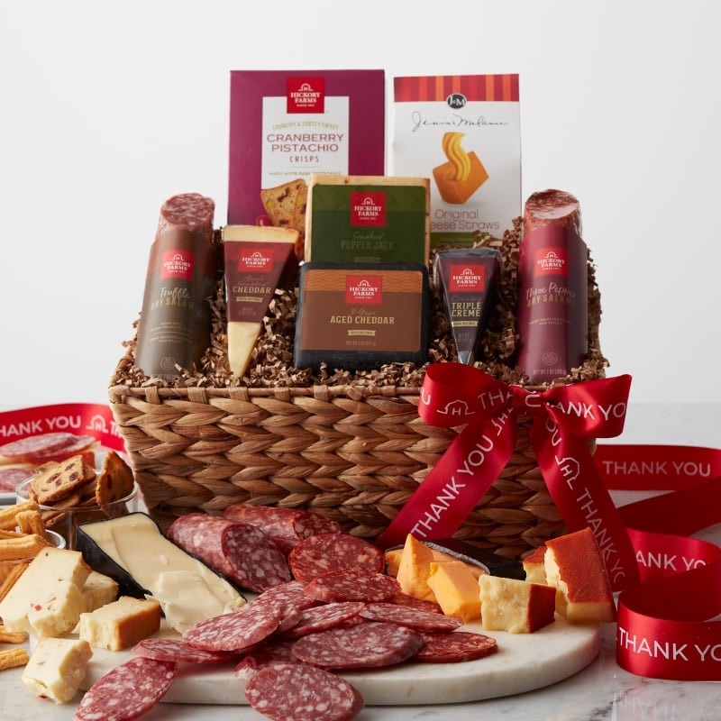 Thank You Artisanal Salami & Cheese Gift Basket