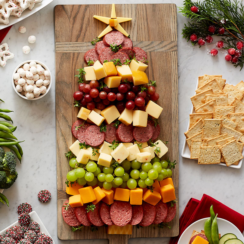 charcuterie tree for an easy holiday appetizer