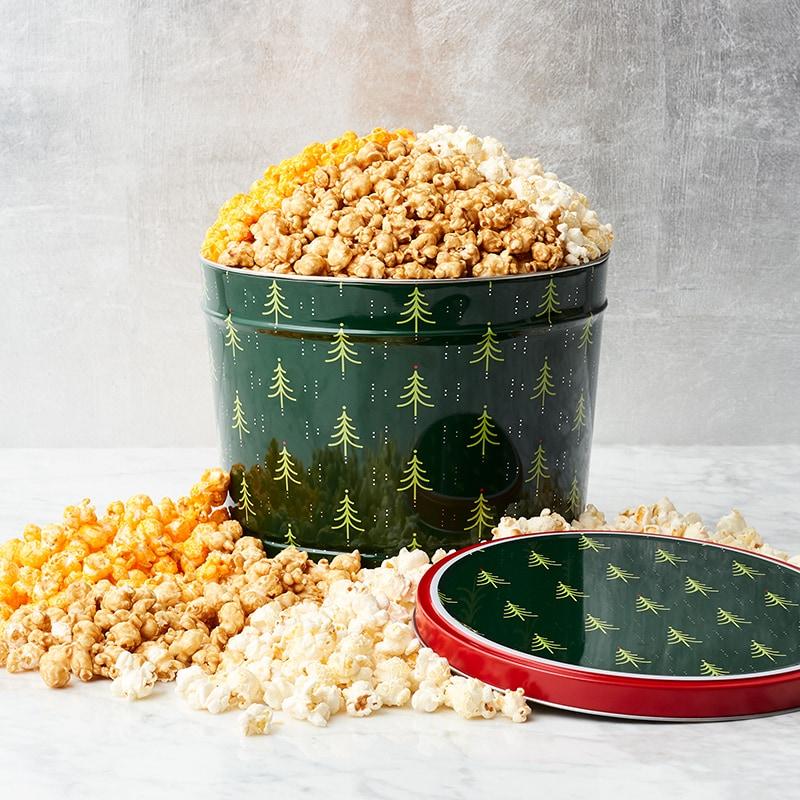 Jolly Tree Popcorn Tin