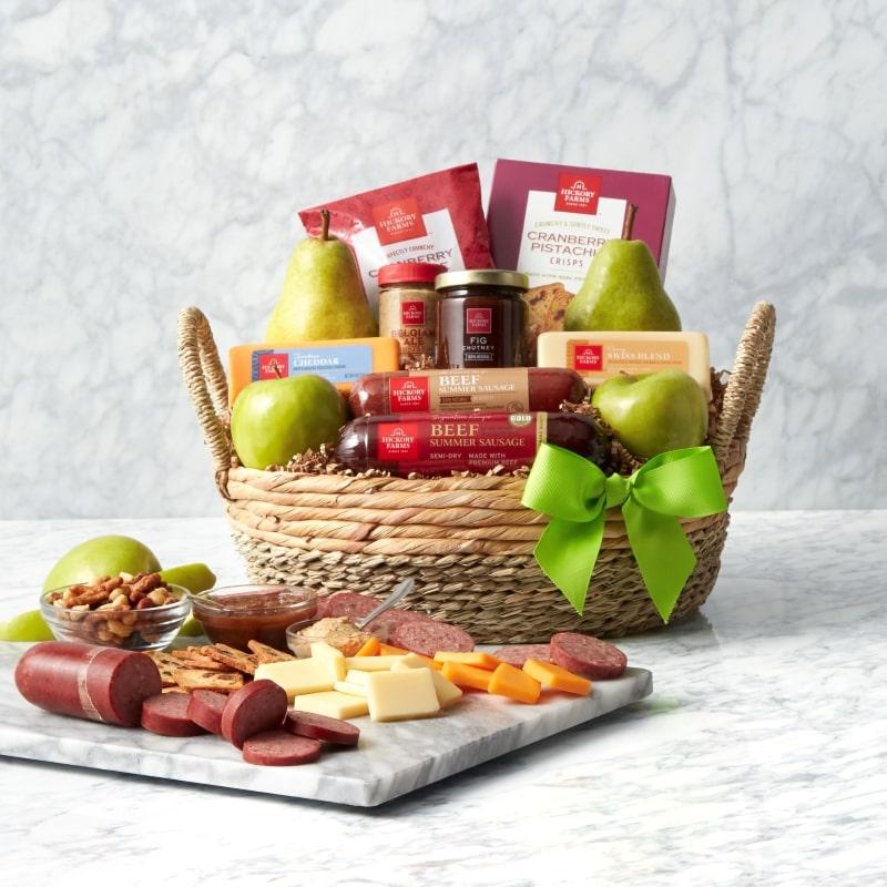 Spring Premium Fruit & Snack Gift Basket