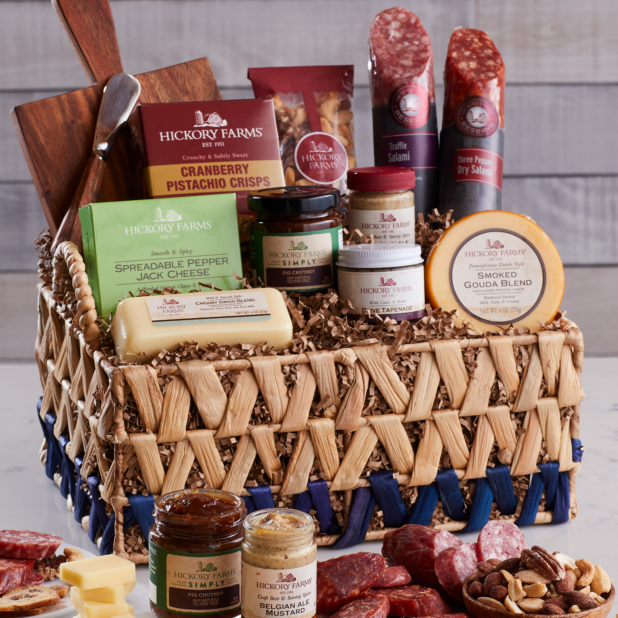 Charcuterie Essentials Basket - Holiday Gift Guide