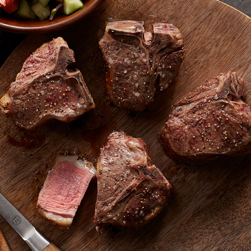 Hickory Farms Steakhouse Prep Guide - Loin Lamb Chops
