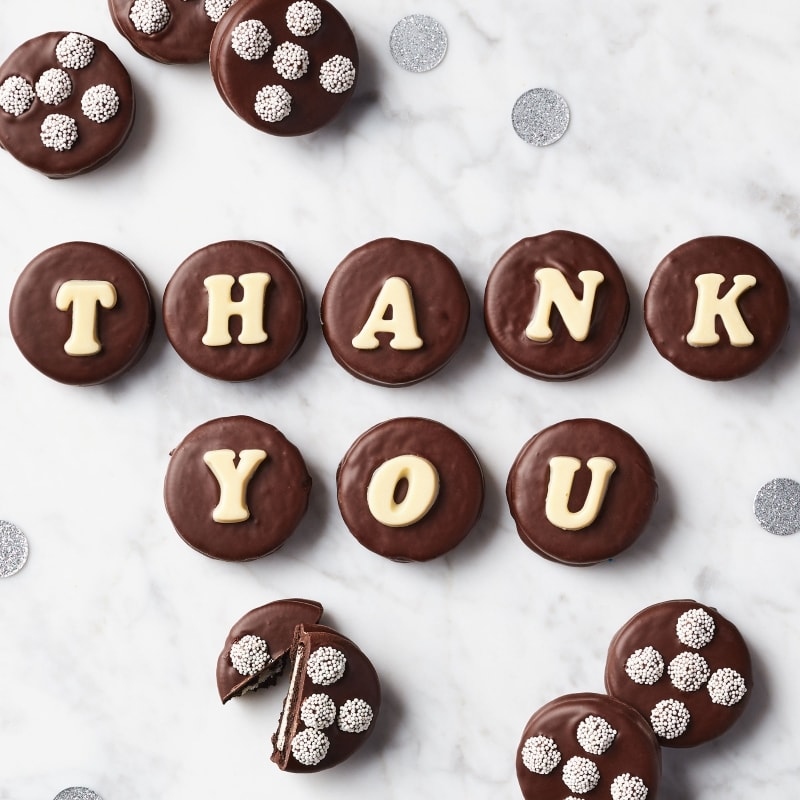 Thank You Chocolate Covered Sandwich Cookies