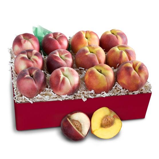 peach fruit basket