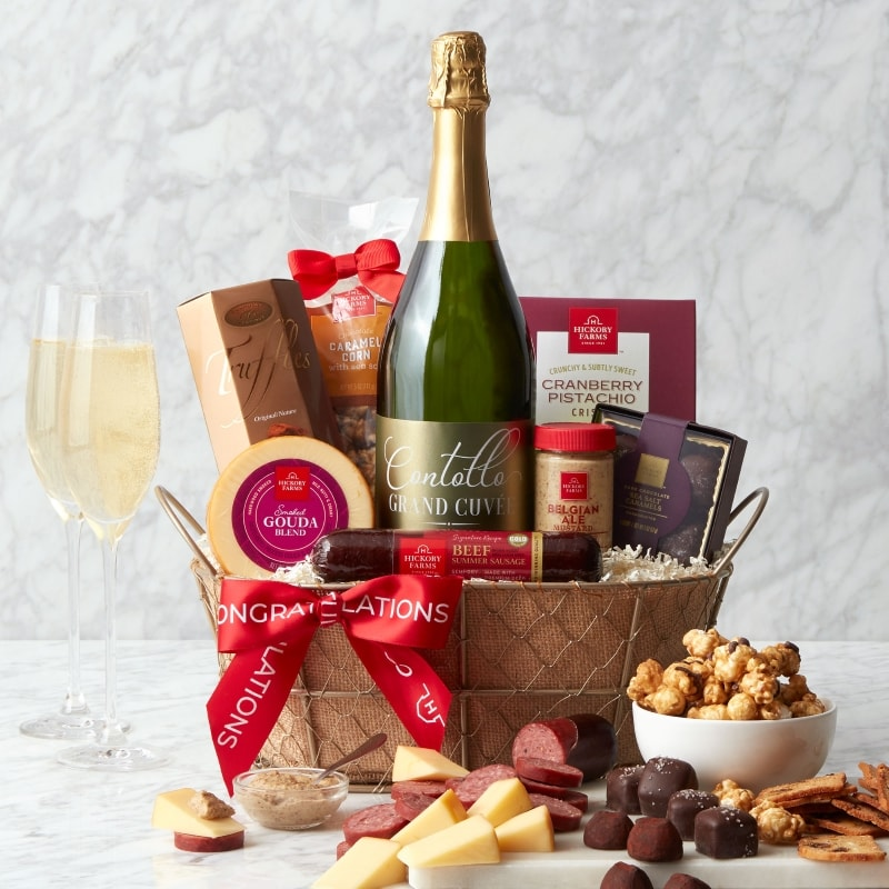 Congratulations Sparkling Wine Gift Basket