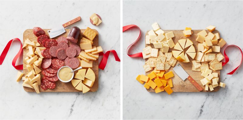 Classic Bites & Board Gift Set and Cheese Favorites & Board Gift Box