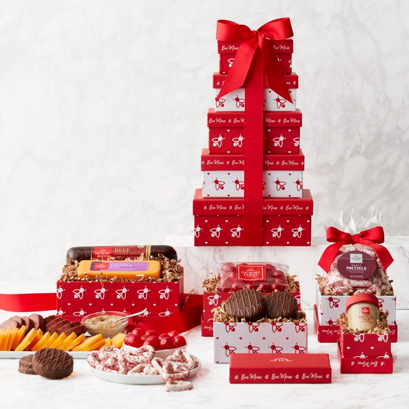 Valentine's Day Sweet & Savory Gift Tower