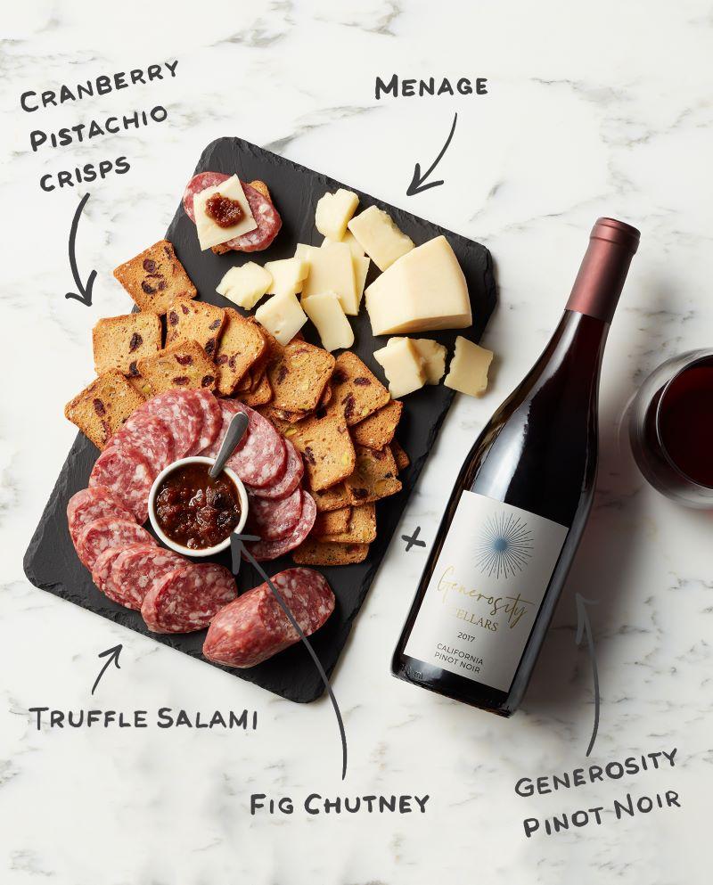Infographic Generosity Cellars California Pinot Noir 2017