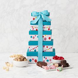Happy Birthday Gift Tower
