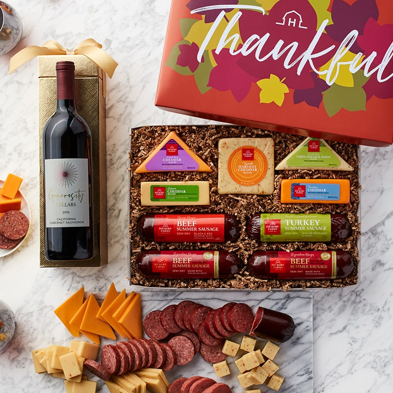 Fall Cheese & Sausage Lovers Wine Gift Set