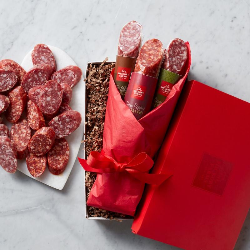 Salami Bouquet Heart
