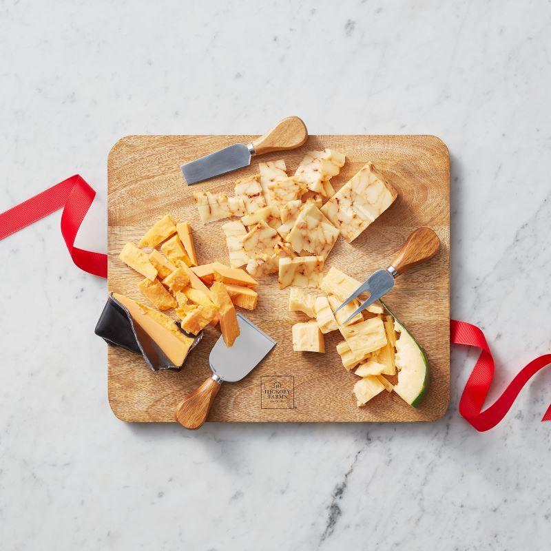 Mango Wood Cheese Board Set