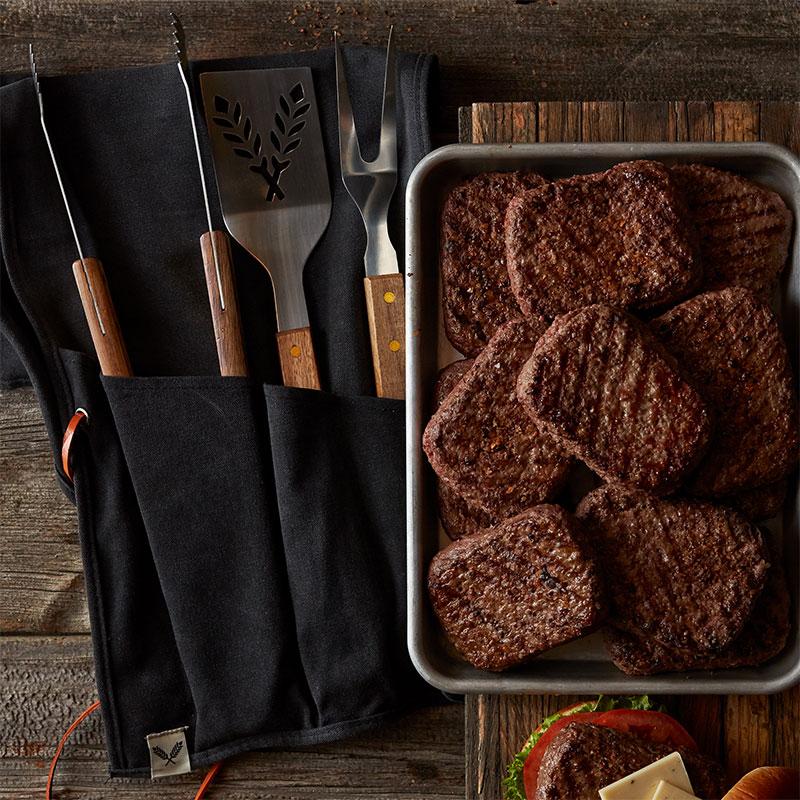 Classic Bratwurst, Prime Burgers, and Premium Pork Ribs