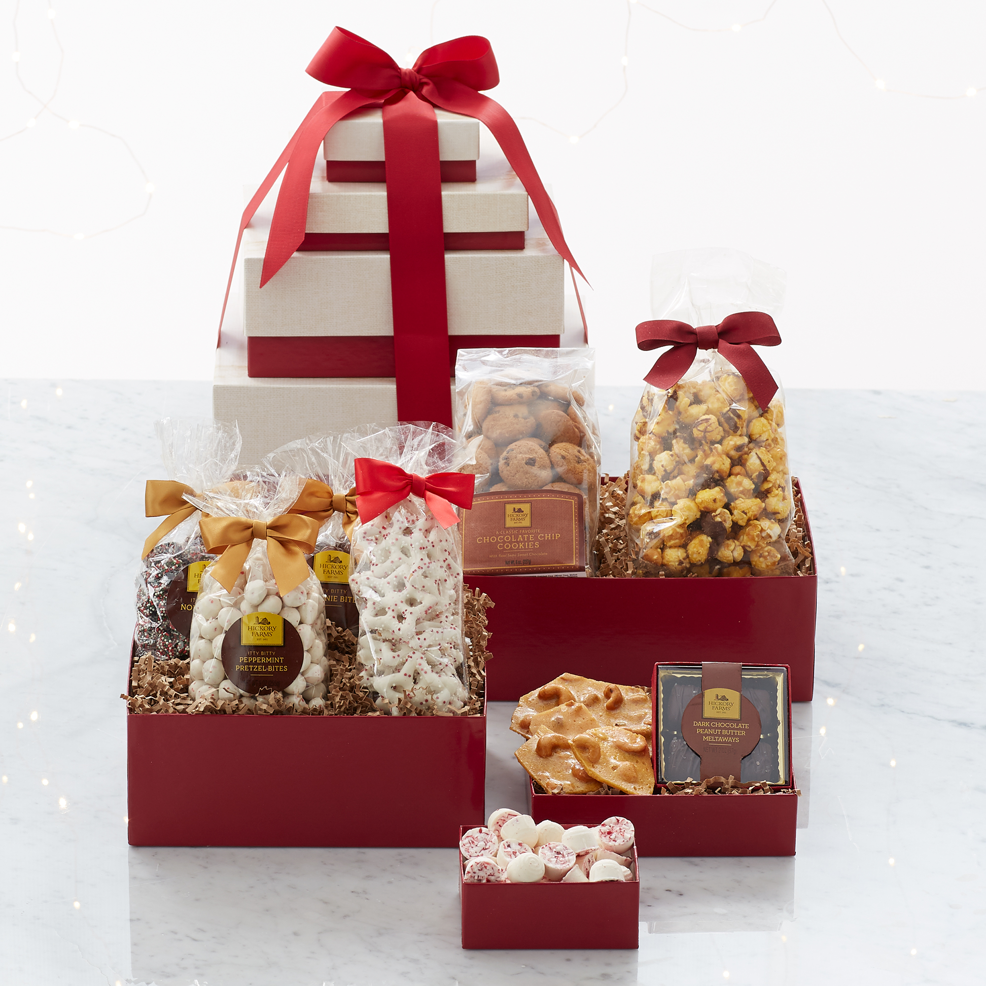 new product gift guide - Hickory Farms Sweet Treats Tower