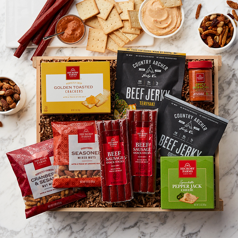 Gift Ideas for College Students - Savory & Spicy Snack Gift Crate