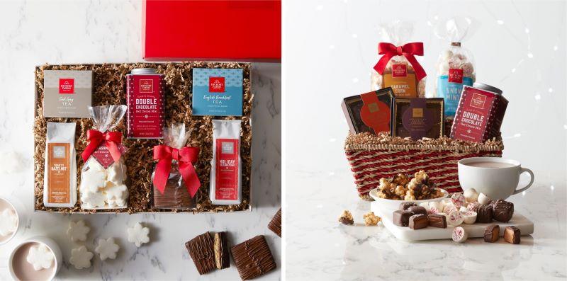Fireside Favorites Gift Box and Sweet Favorites Gift Basket