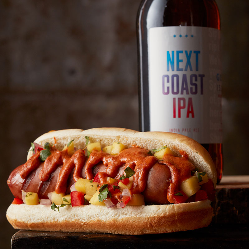 hot dogs and beer