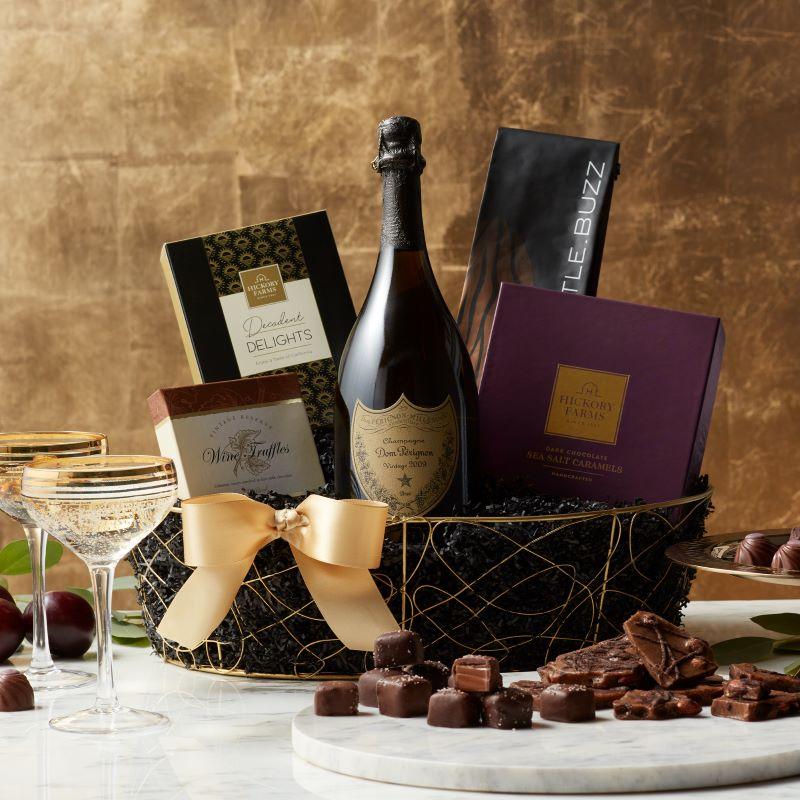 Taste of California Gift Ideas - Dom Perignon Champagne Gift Basket