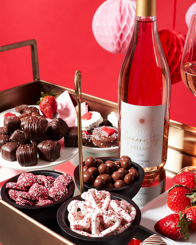 Sweets and Rose Gift Basket