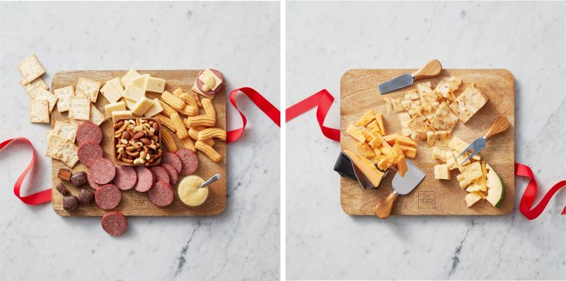 Charcuterie Favorites Gift Set and Mango Wood Cheese Board Set