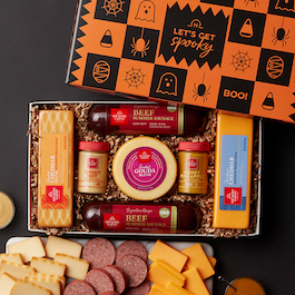 Halloween Summer Sausage & Cheese Gift Box