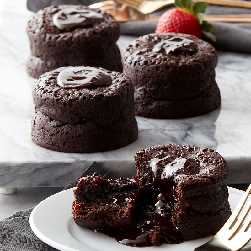 Gift Ideas for College Students - Chocolate Lava Cakes