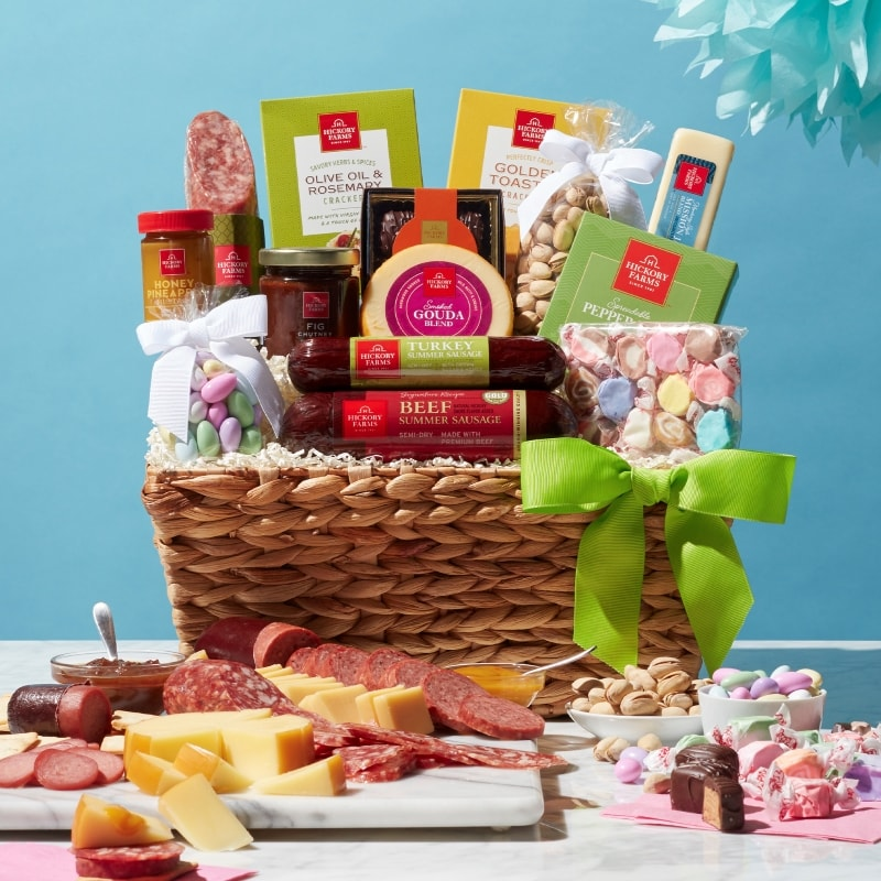 Deluxe Spring Snacks Gift Basket