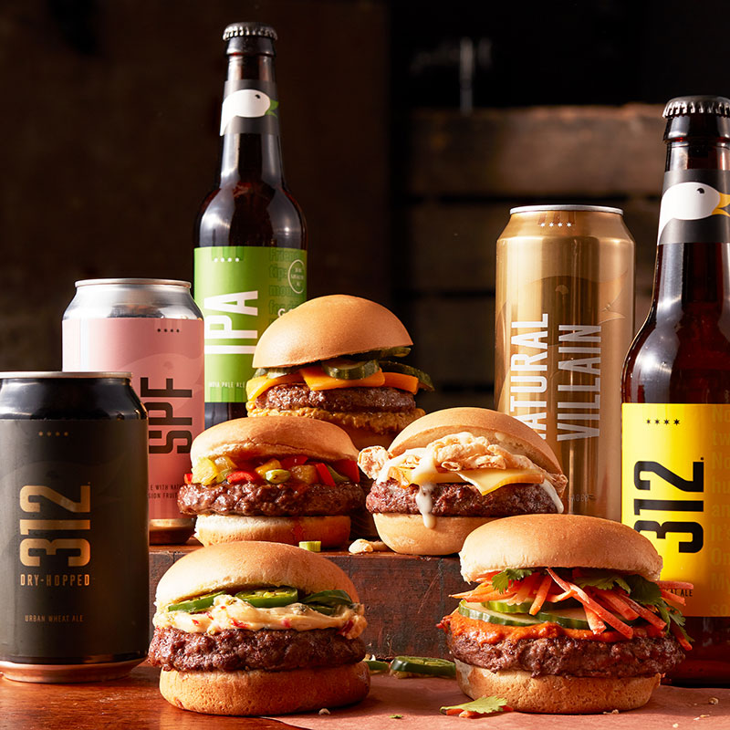 burger and beer