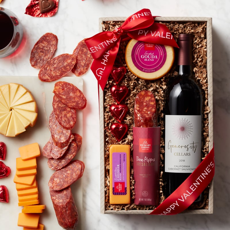 Valentine's Day Wine & Savory Snack Collection