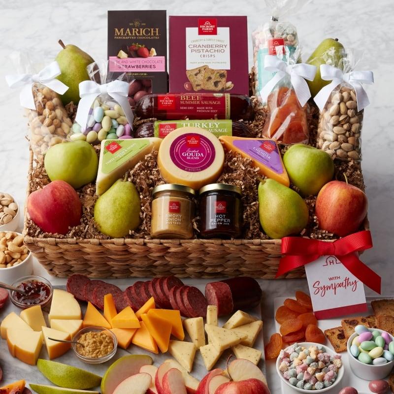 Sympathy Grand Fruit & Snack Gift Basket