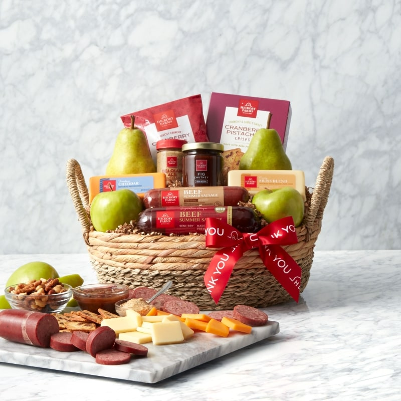 Thank You Premium Fruit & Snack Gift Basket