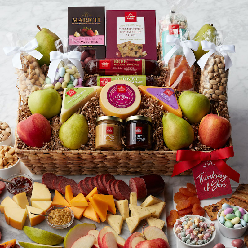 Our Thinking of You Deluxe Sip & Snack Gift Basket