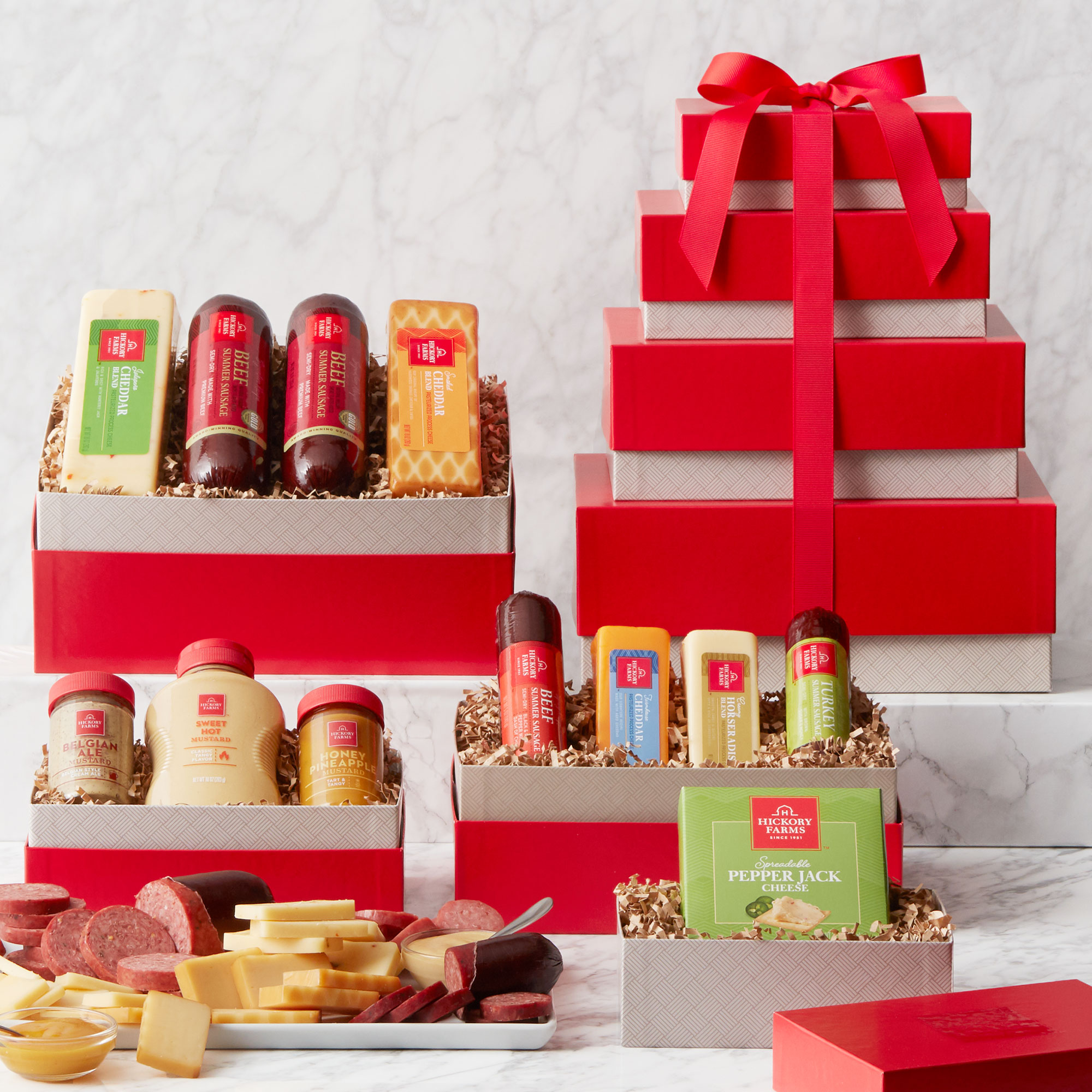 Gourmet Meat & Cheese Gift Tower
