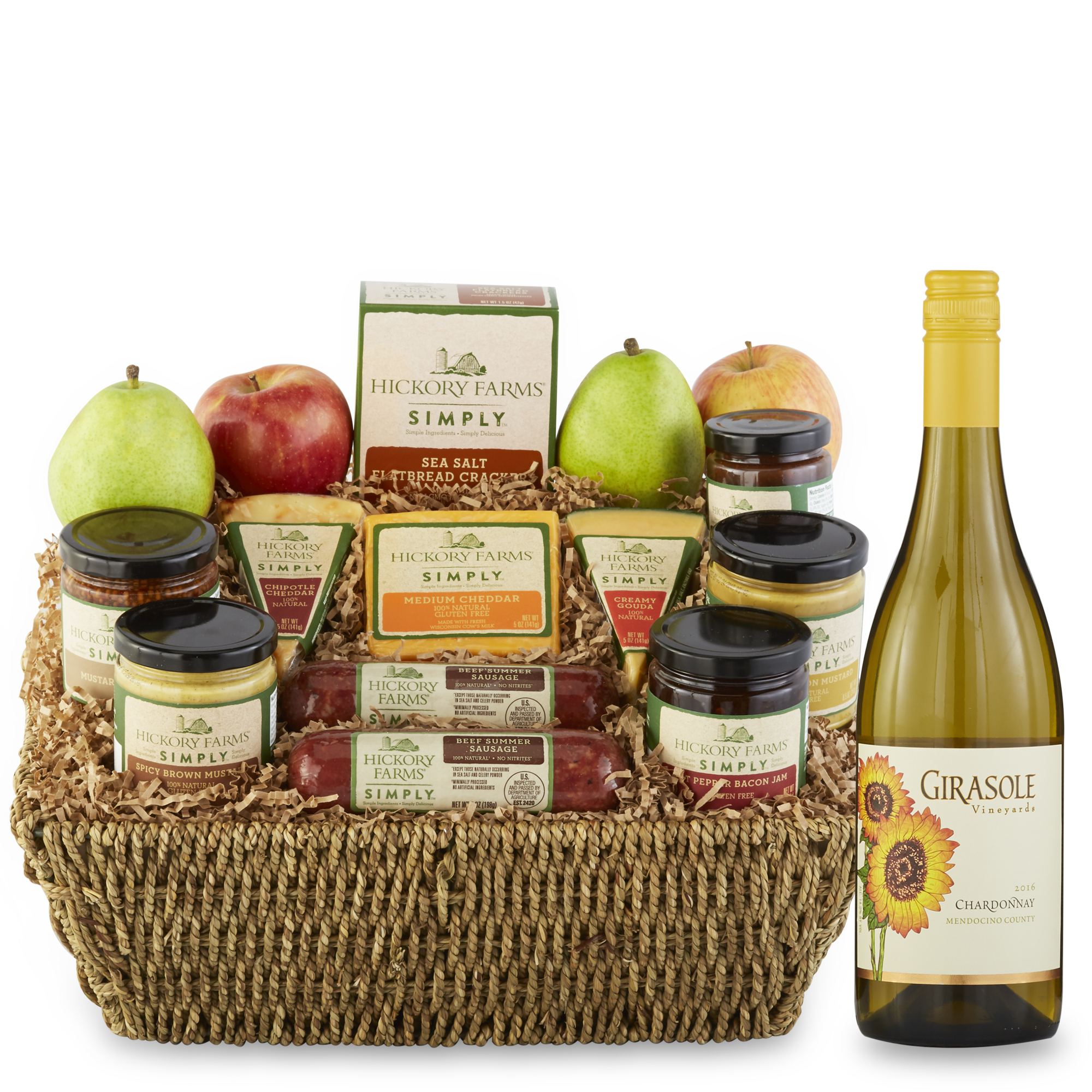 Fruit gift baskets hickory farms hickory farms simply festive gift basket negle Image collections