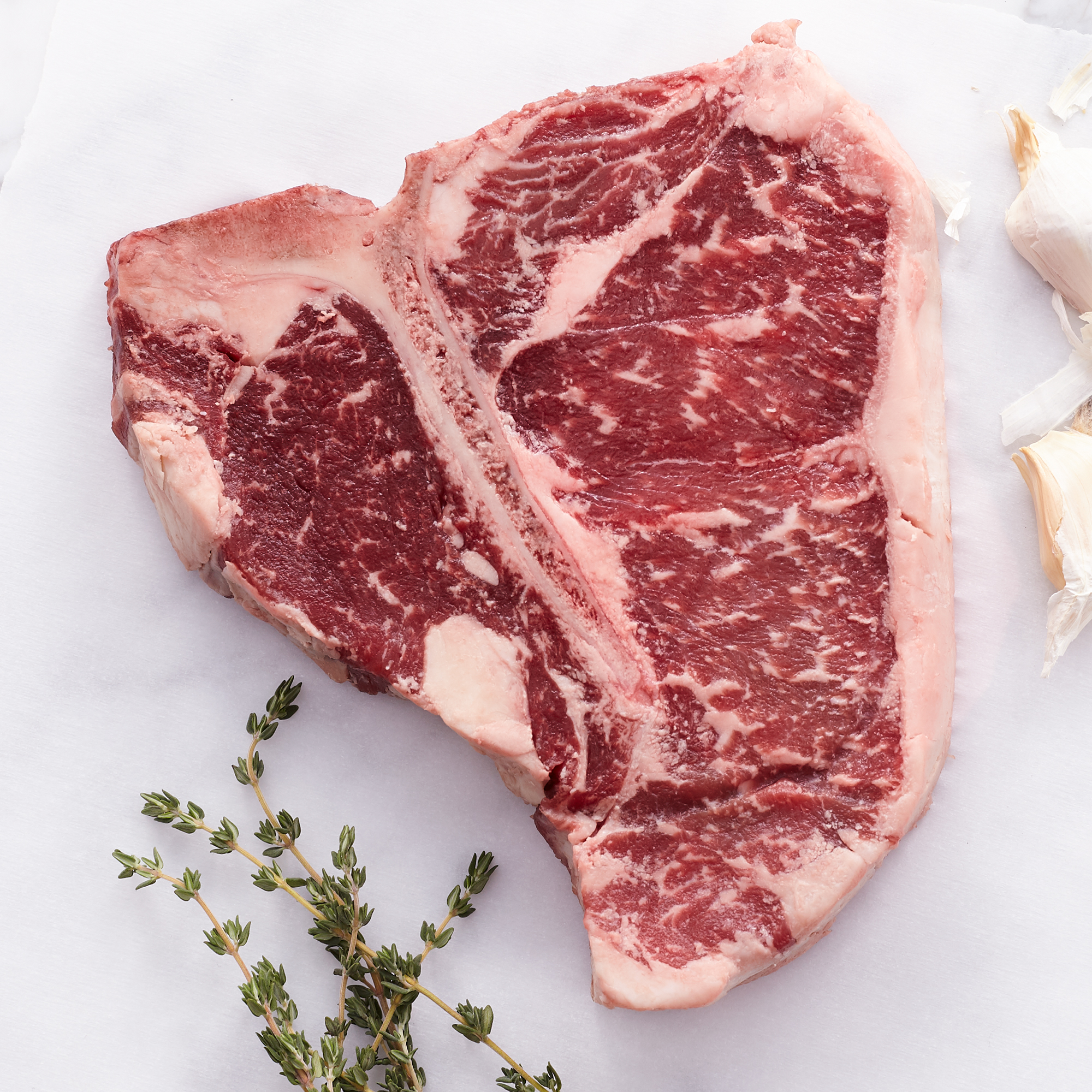 (4) 16 oz. Porterhouse Premium Steaks - ships frozen and raw