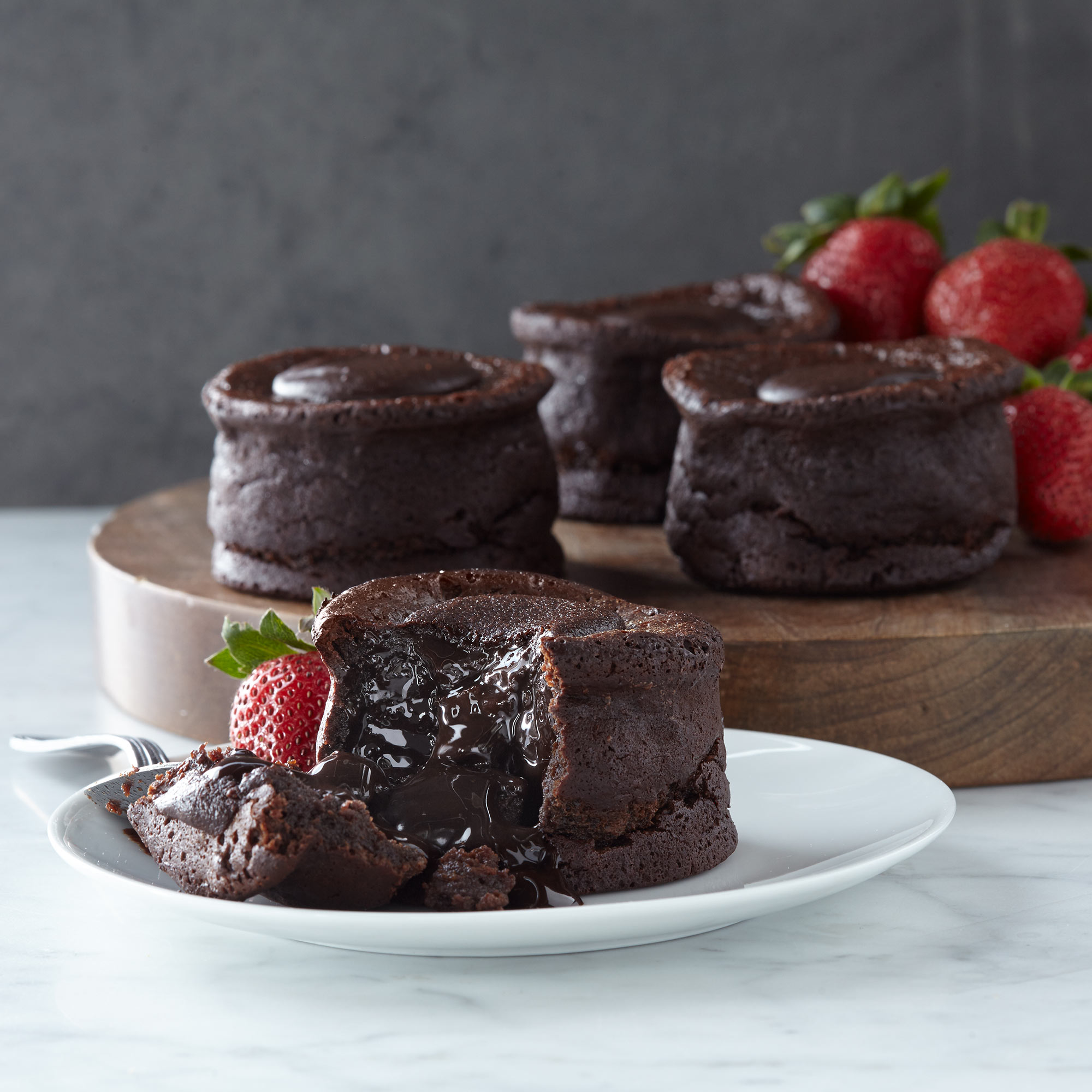 4 Chocolate Lava Cakes Hickory Farms