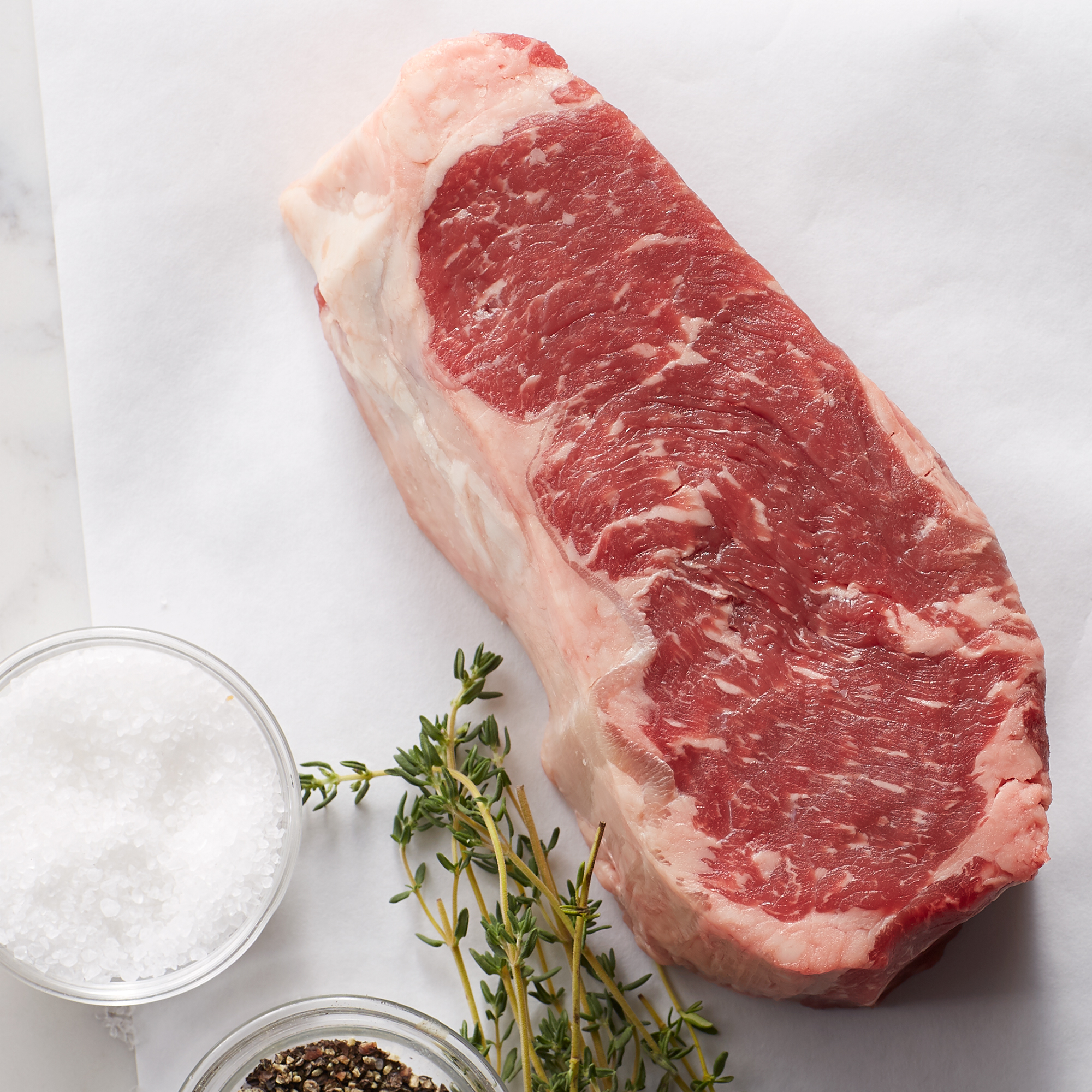 Whether grilled, broiled, sautéed or pan-fried, our New York Strip is thick, juicy and bursting with flavor. Ships frozen and raw
